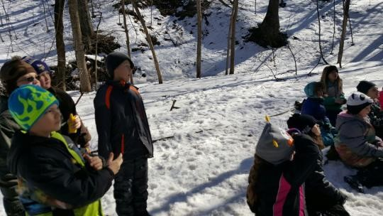 The Third and Fourth Graders took a trip to Call Park with Billie Willie.  They hiked, listened  for animals. played predator and prey, and hid animals to see if they survived.